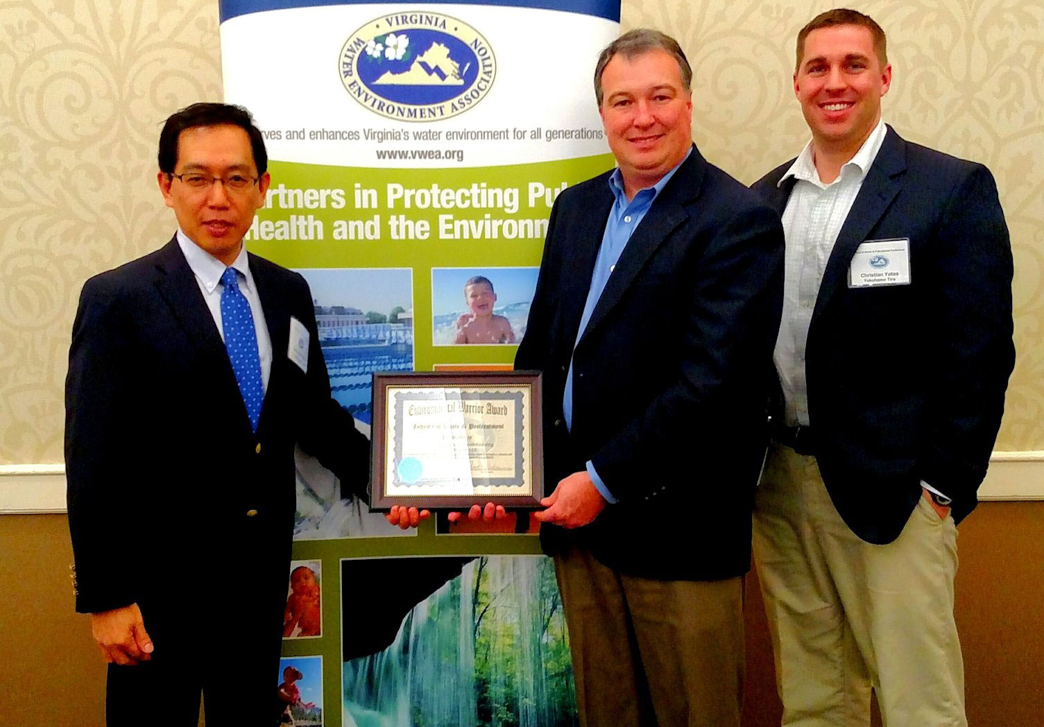 Yokohama Tire Manufacturing Virginia, LLC Receives 2015 Environmental Warrior Award