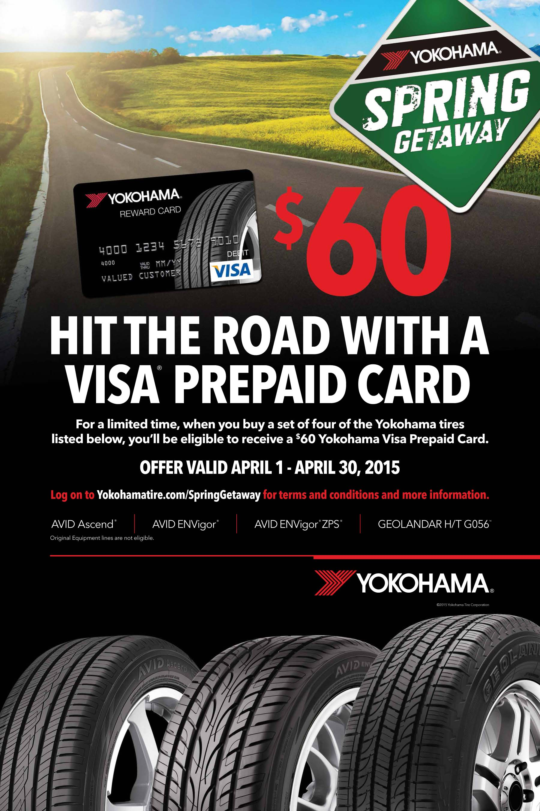 Yokohama Tire Brings Back 'Spring Getaway' Promotion