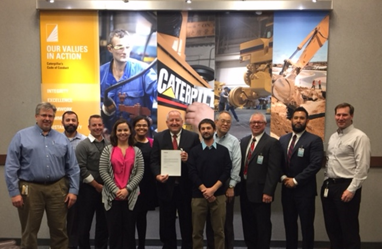 Yokohama Tire Corporation Earns Platinum Supplier Award from Caterpillar for the Fourth Consecutive Year