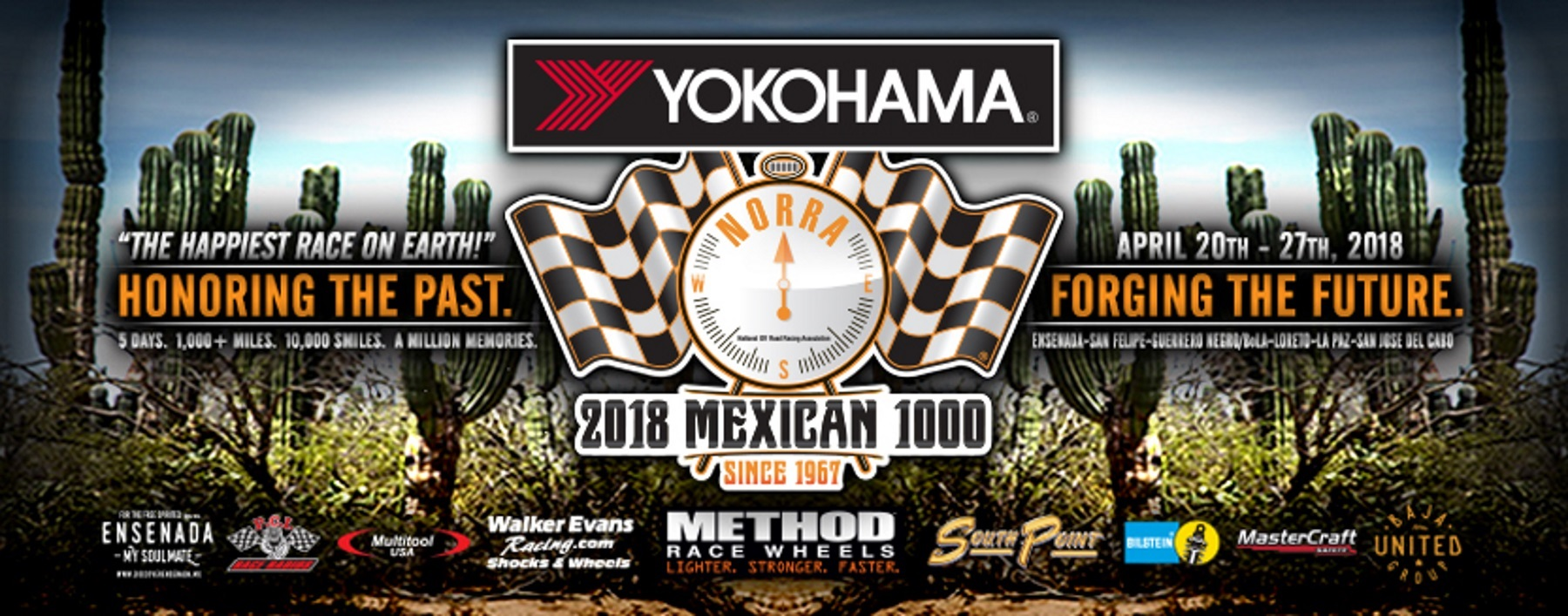 Yokohama to Rock Baja as Title Sponsor of the 2018 Yokohama NORRA Mexican 1000