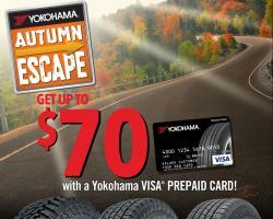 Yokohama's Autumn Escape promotion redemption period ends 11/30/17.