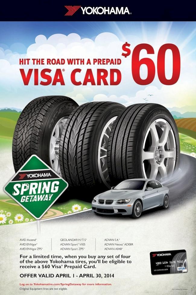 Yokohama Tire Corporation Kicks-Off 'Spring Getaway' Campaign