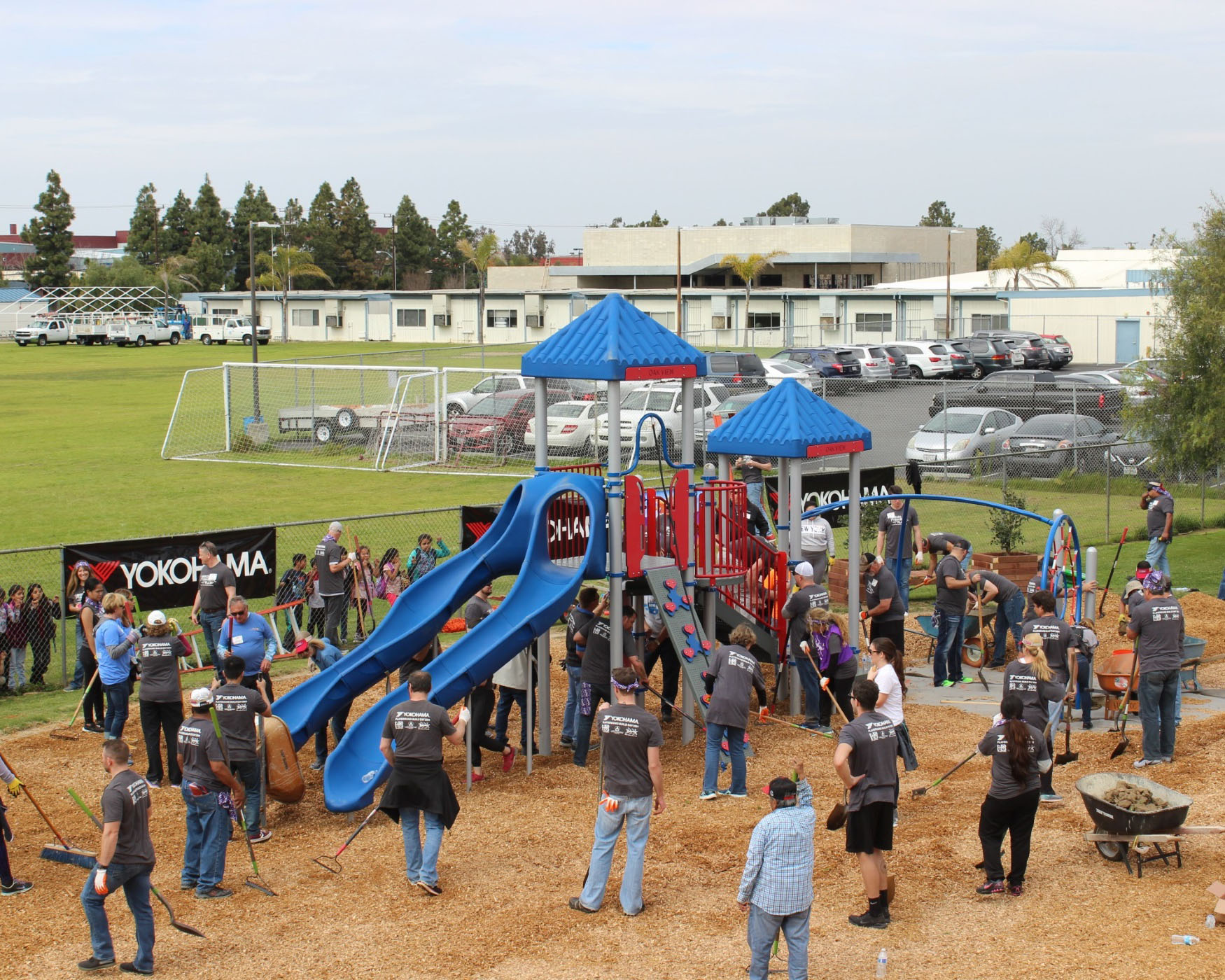 Yokohama Tire and SoCal Partners Build New KaBOOM! Playground in Huntington Beach, CA