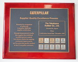 Yokohama Tire Receives Platinum Supplier Award from Caterpillar for the Seventh Straight Year