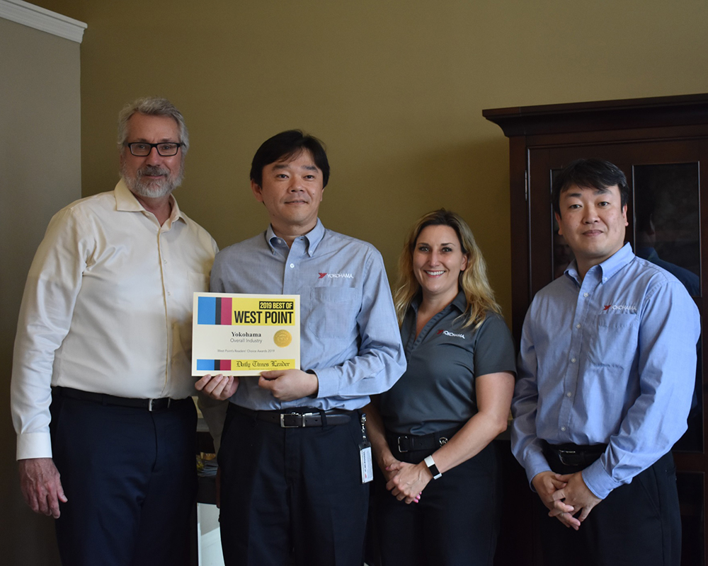 Yokohama Tire's Mississippi Plant Voted 'Best Overall Industry in West Point'