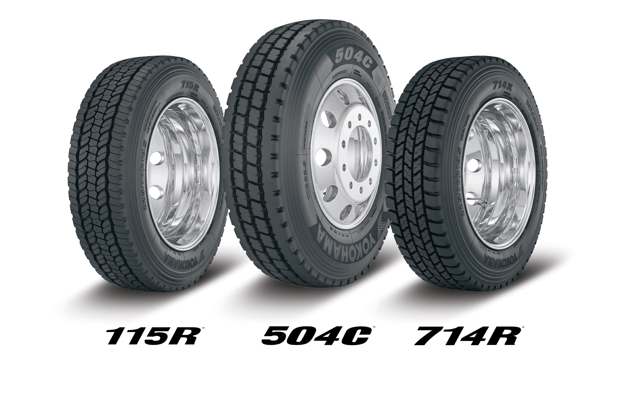 New Commercial Truck Tires Driving Yokohama's TMC Display