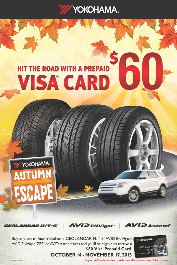 Yokohama Tire Corporation Activates 'Autumn Escape' Promotion