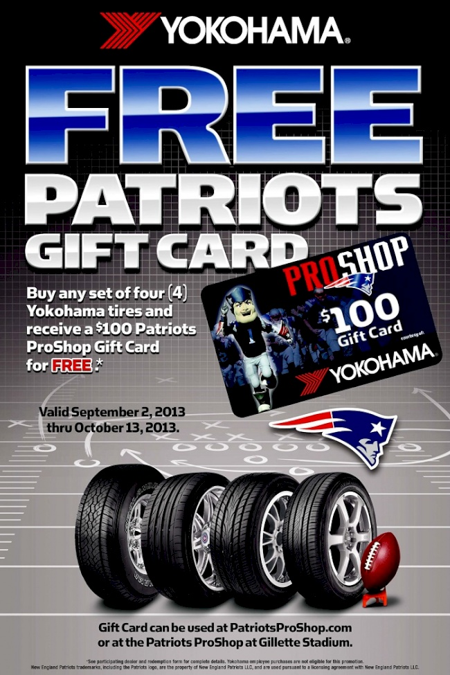 Yokohama Tire Corporation's 'Home Team Pride' Consumer Promotion Kicks-Off with Three NFL Teams